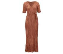 Twinkie Crinkled Silk-satin Maxi Dress