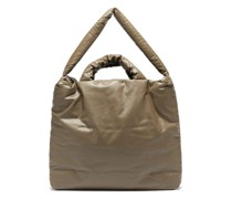 Oil Large Padded Cotton-blend Canvas Tote Bag