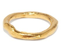 The Gaze Of The Satellite 24kt Gold-plated Ring