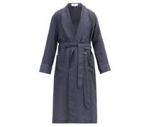 Aloe Vera-washed Linen-poplin Robe