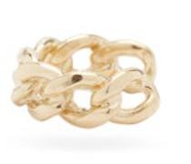 Curb-chain 14kt Gold Ear Cuff