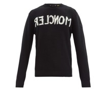 Mirrored Logo-jacquard Wool-blend Sweater