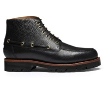 Easton Grained-leather Boots