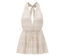 Chevron-stripe Lace-knitted Playsuit