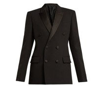 Double-breasted Crepe Tuxedo Jacket