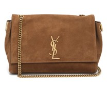 Kate Reversible Leather And Suede Shoulder Bag