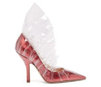 Shell Lamé & Pvc Ruched Pumps