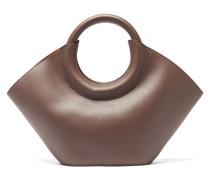Cabassa Round-handle Leather Tote Bag