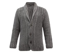 Fred Hand-knitted Cashmere-blend Cardigan