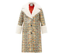 Linda Faux Shearling-trimmed Faux-leather Coat