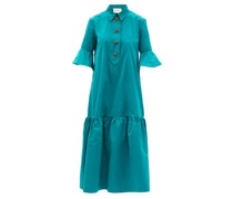 Artemis Taffeta Shirt Dress