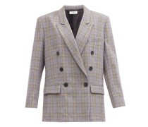Leaganea Prince Of Wales-check Twill Blazer