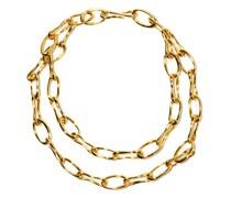 Roman Double Chain-link 18kt Gold-vermeil Choker