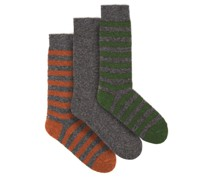 Pack Of Three Merino-blend Socks