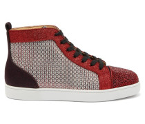 Louis Strass Crystal-embellished High-top Trainers