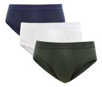 Pack Of Three Lyocell-blend Briefs