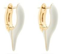 Lola Enamel & 18kt Gold Needle Earrings