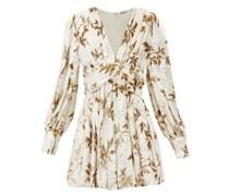 Anatalya Floral-devoré Velvet Dress