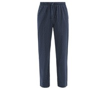 Nelson 74 Dotted Cotton-batiste Lounge Trousers