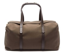 Leather-trim Canvas Holdall