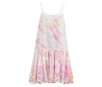 Shisha Mirror-embroidered Tie-dye Cotton Dress