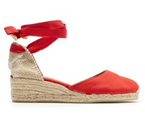 Carina 30 Canvas And Jute Espadrille Wedges