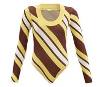Summer Stripe-intarsia Bodysuit