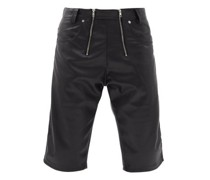 Amir Zipped Faux-leather Shorts