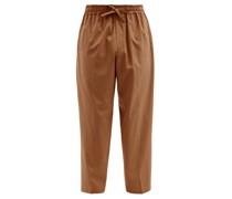 Julian Drawstring-waist Cotton-blend Trousers