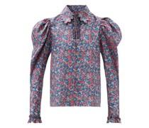 Coco Floral-print Cotton-poplin Blouse