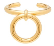 Hoop-charm 18kt Gold-plated Sterling Silver Cuff
