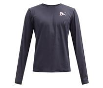 Air-wear Logo-print Mesh Long-sleeved T-shirt