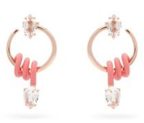 Vine 9kt Rose-gold Hoop Earrings