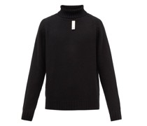Rib-knit Roll-neck Cashmere Sweater