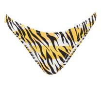 Selvaggia Tiger-print Bikini Briefs