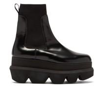 Platform Leather Chelsea Boots