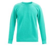 Seamless Rib-knitted Wool Sweater