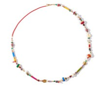 A Thousand And One Beaded Gold-plated Necklace