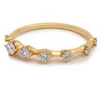 Sequence Diamond & Gold Ring