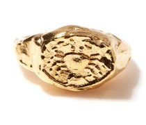 Cancer 24kt Gold-plated Zodiac Ring