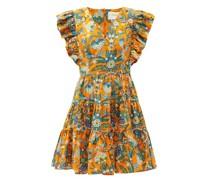 Honeybun Floral-print Cotton-poplin Mini Dress