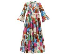 Jennifer Jane Floral-print Cotton Midi Dress