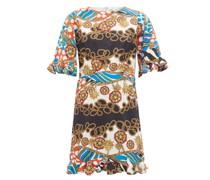 Hailey Chain-print Cotton-voile Mini Dress