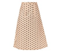 Suffrage Polka-dot Silk-taffeta Midi Skirt
