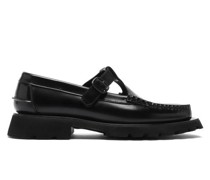 Alber Tread-sole T-bar Leather Loafers