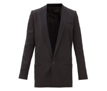 Miles Single-breasted Wool Smoking Jacket
