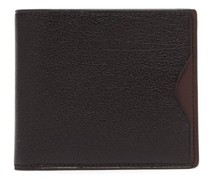Bi-fold Grained-leather Wallet