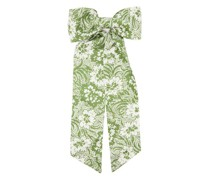 Fortuna Floral-print Oversized Bow Hair Clip