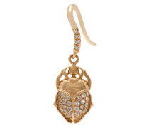 18kt Gold And Diamond Scarab Single Earring