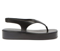 Deborah Leather Flatform Sandals